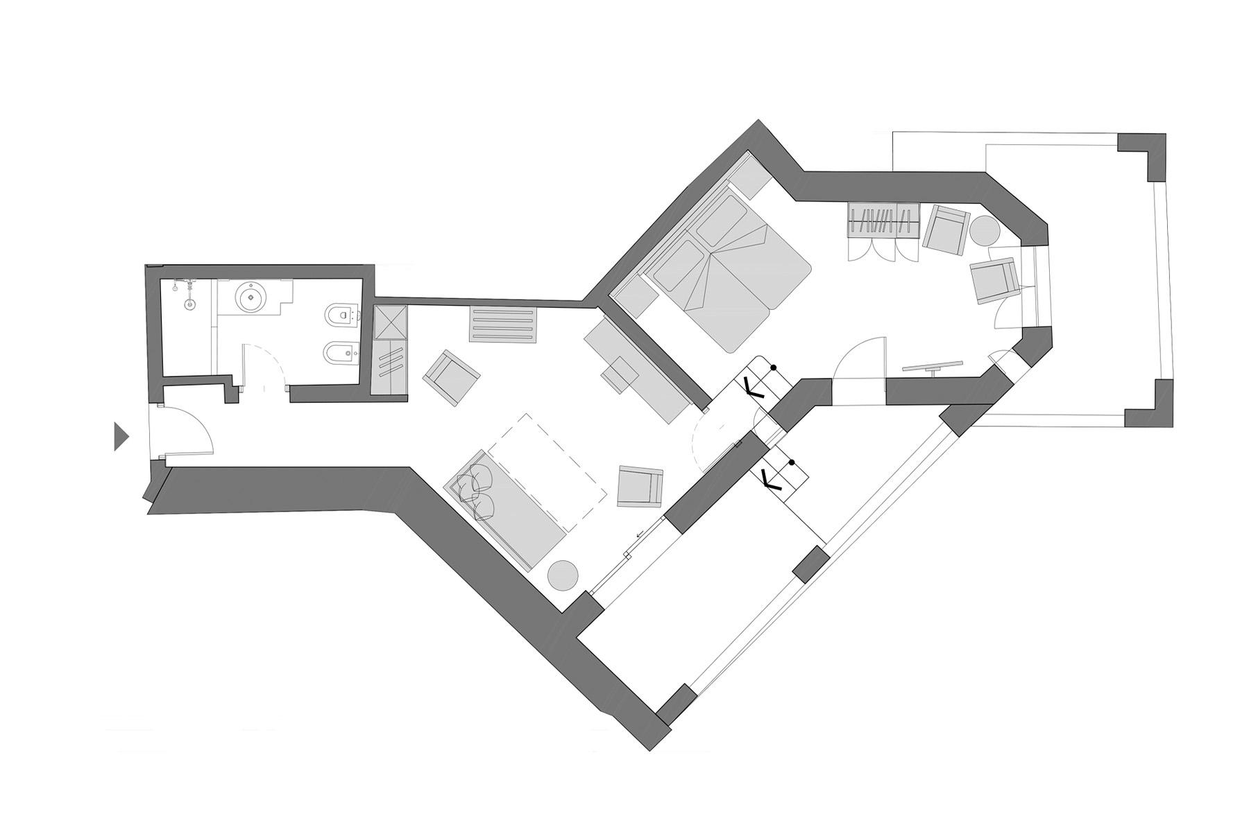 planimetria deluxe suite